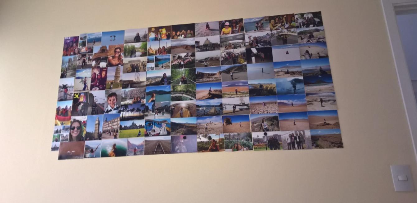 Como fazer um MURAL MAGNTICO DE FOTOS DE VIAGENS Desafie o Mundo
